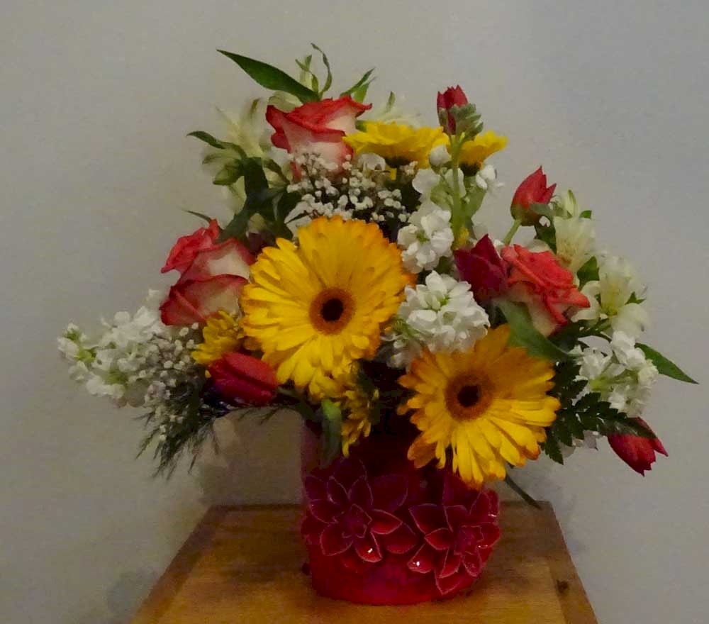 Flowers from Margret Long and Susan Grady