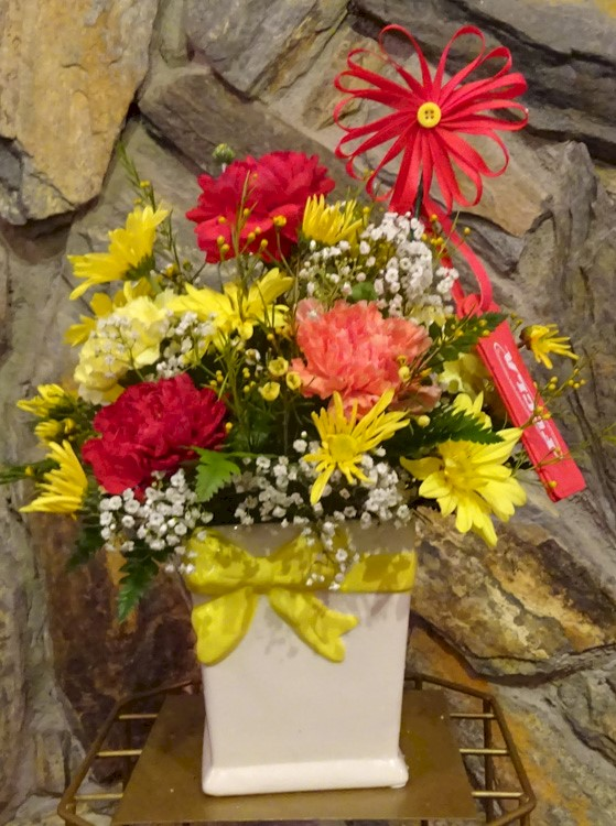 Flowers from Mrs. Brucklacher and FCCLA